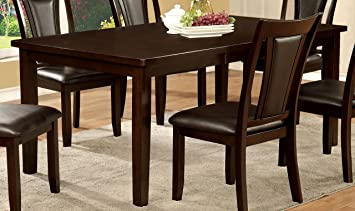 contemporary wooden dining furniture. furniture of america simone contemporary wooden dining table o