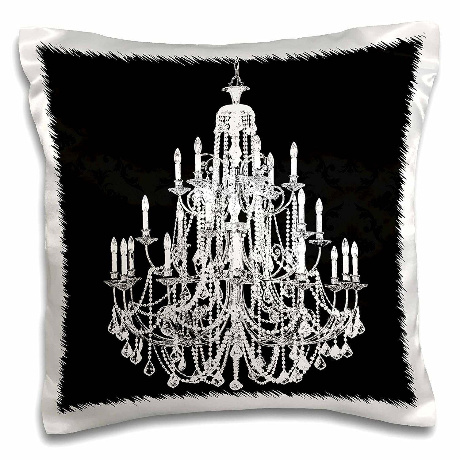 3D Rose pc/_108740/_1 Chic Vintage Black and White Chandelier