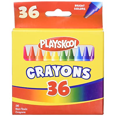 Playskool 36 Bright Colors Crayon Box: Toys & Games