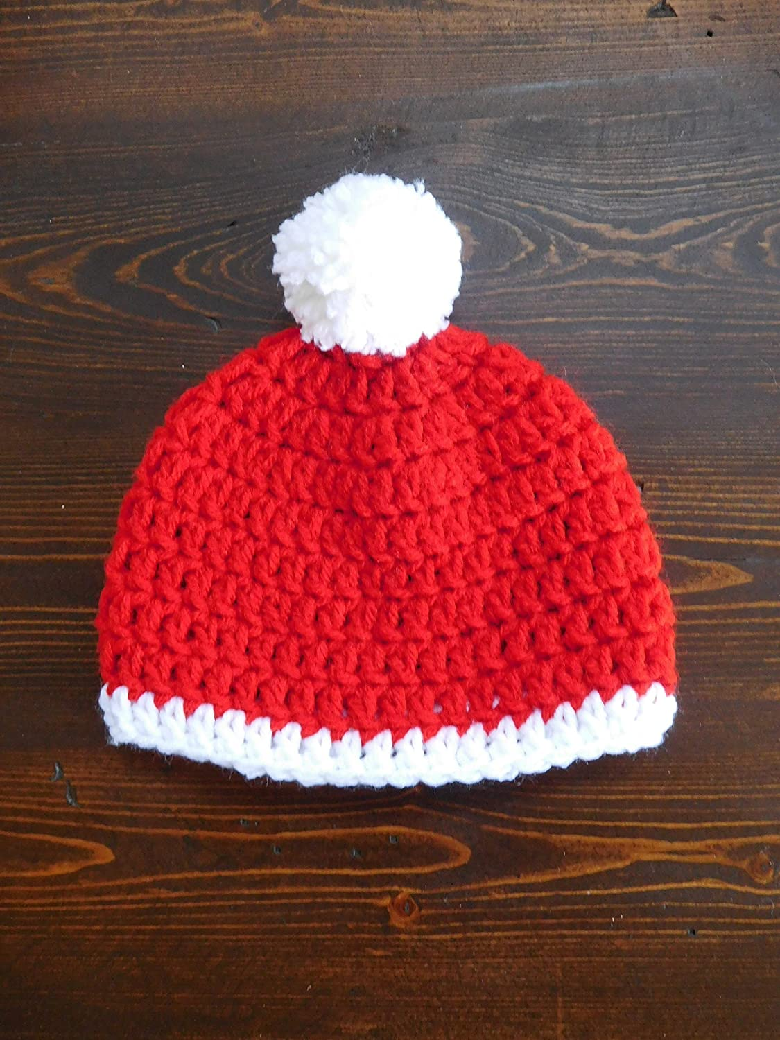 HANDMADE CROCHET KNIT HATS FOR BABIES-CHRISTMAS HAT-SIZE 0-6 MONS /& 6-12 MONS