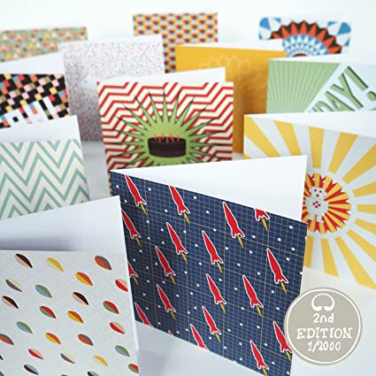 Bright Stem Birthday Cards Greeting And Envelopes Mixed Pack 12 Blank