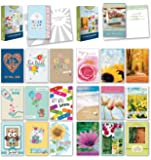 "20 Count Boxed Cards w/Envelopes - Bulk Get Well Greeting Cards w/Sentiments Written Inside. Envelopes Included - 4"" x 6"" Size"