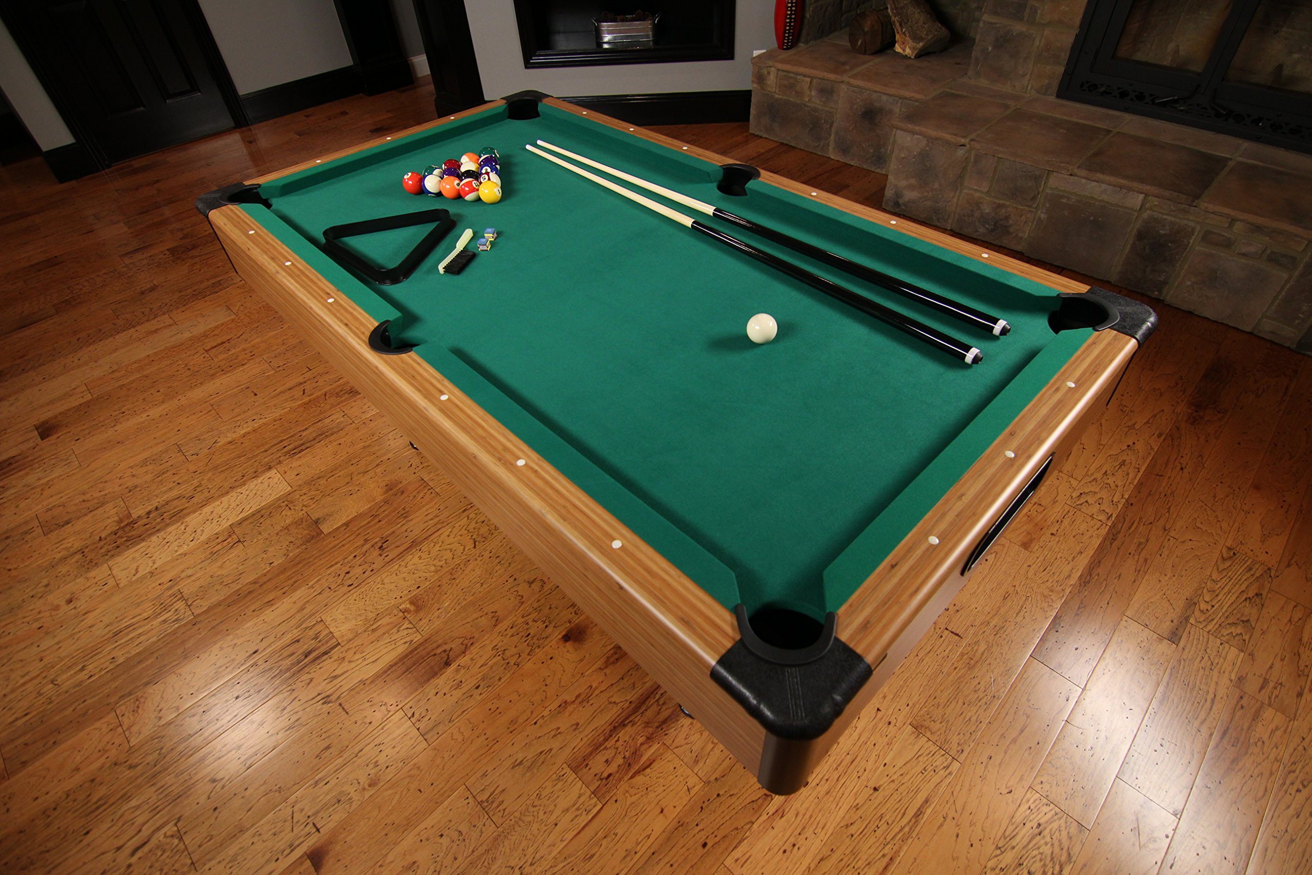 Mizerak Dynasty Space Saver 6.5' Billiard Table with Compact Design to Fit in Smaller Rooms, Leg Levelers for Perfectly Even Playing Surface, Double-sealed MDF Play-bed for Consistent Roll and Automatic Ball Return for Quick Game Reset by Mizerak (Image #19)