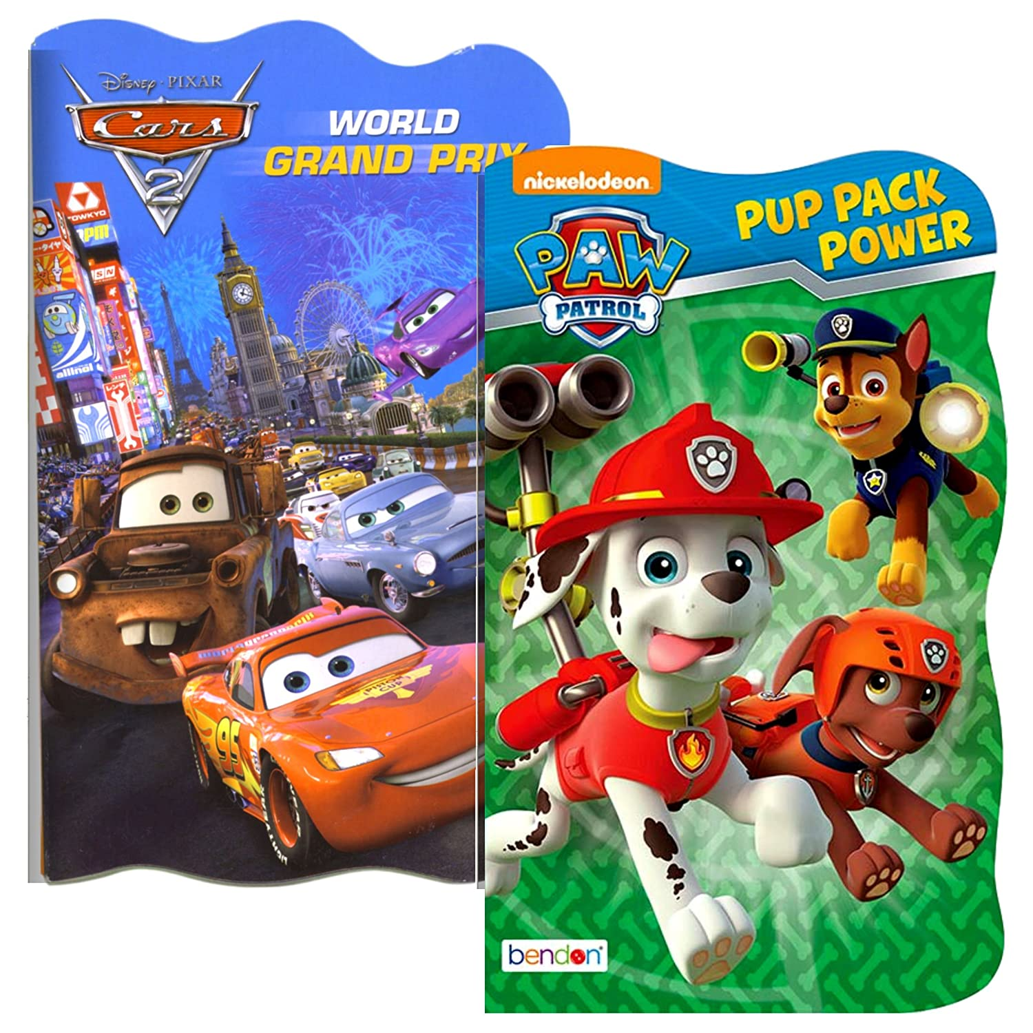 30ec07b6cd8a Amazon.com   Disney Baby Toddler Board Books - Set of 2 (PAW Patrol and  Disney Cars)   Baby