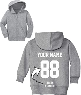 Amazon Com Custom Toddler Hoodies Design Your Own Jersey