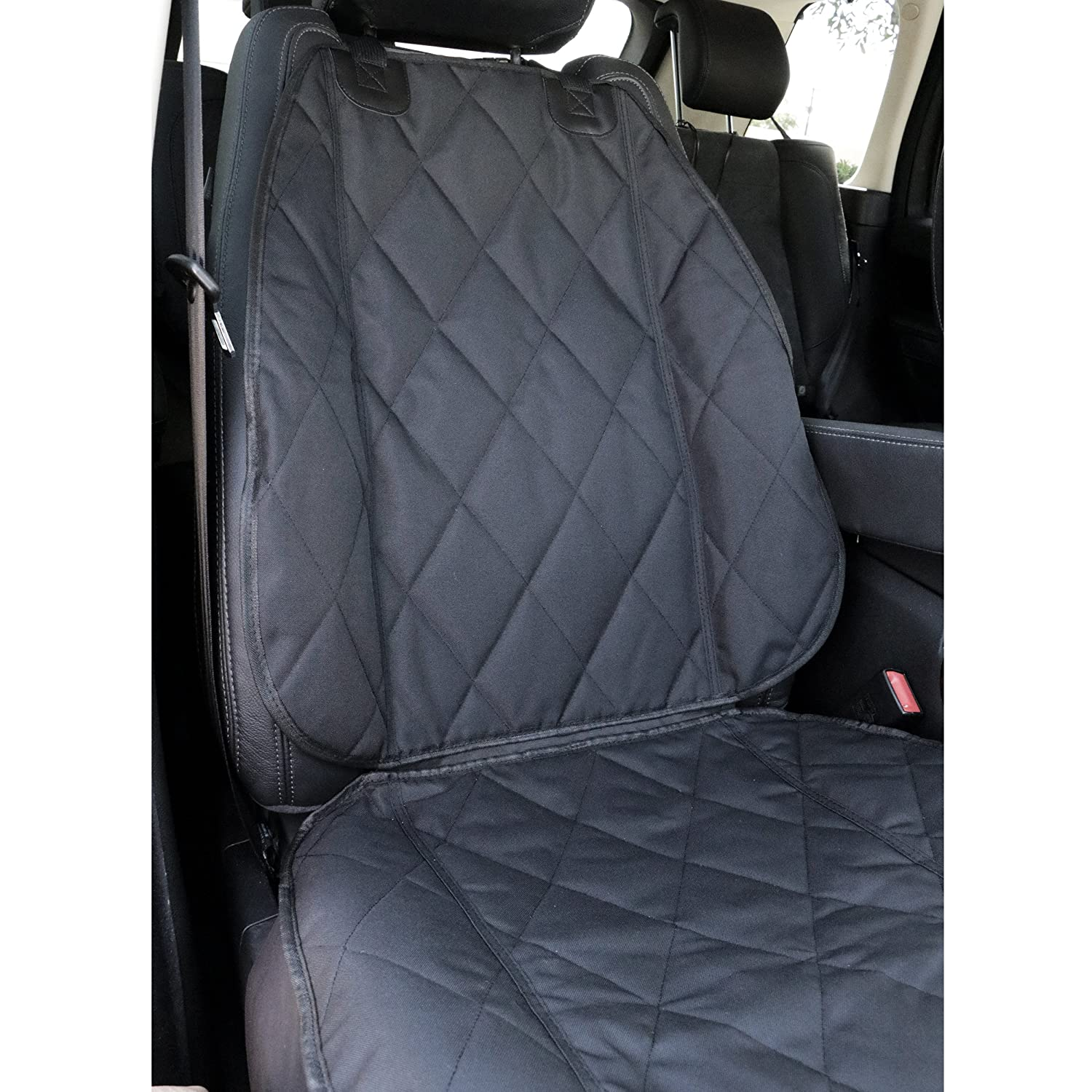 Amazon.com : BarksBar Pet Front Seat Cover for Cars - Black ...