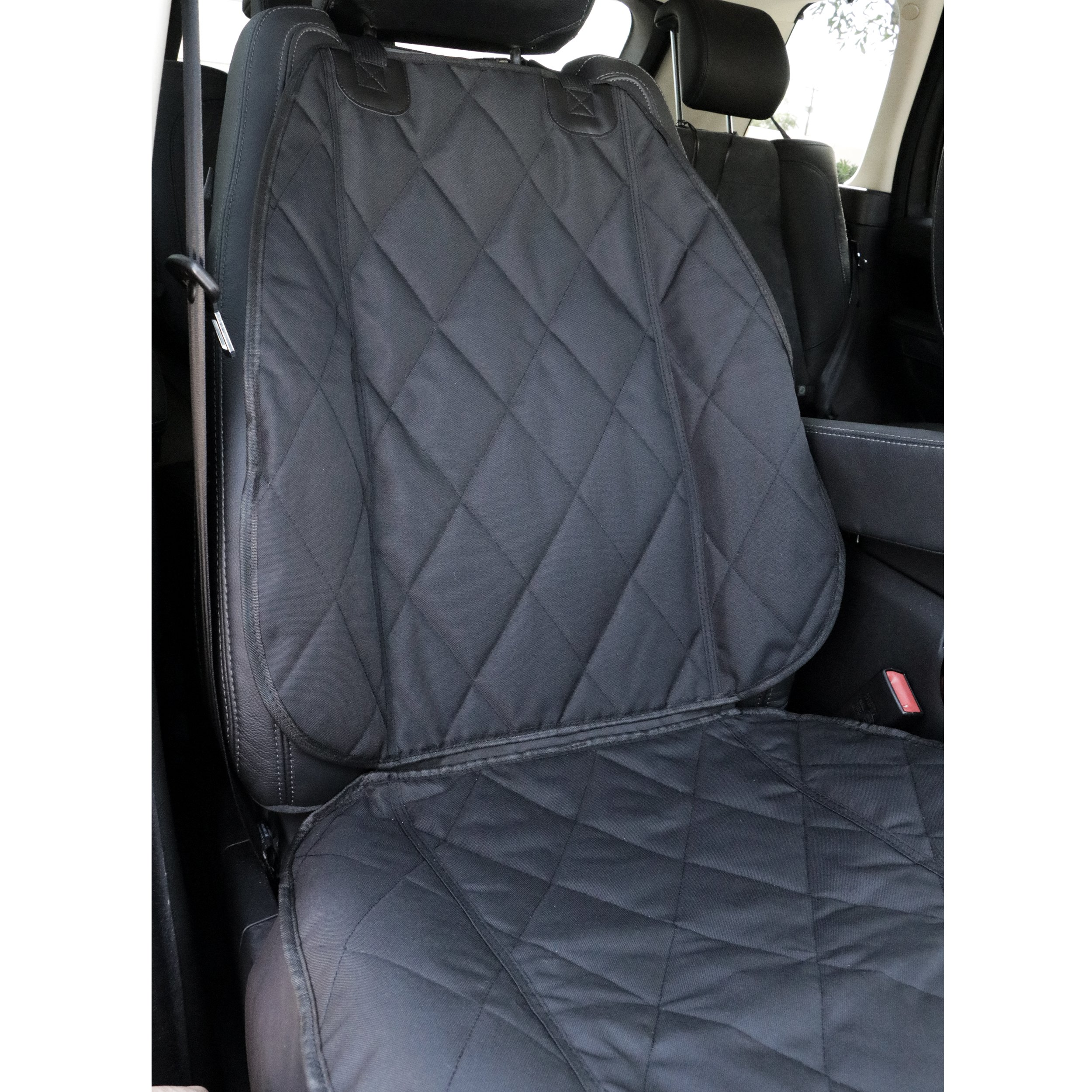 BarksBar Pet Front Seat Cover for Cars - Black, WaterProof & Nonslip Backing by BarksBar (Image #3)