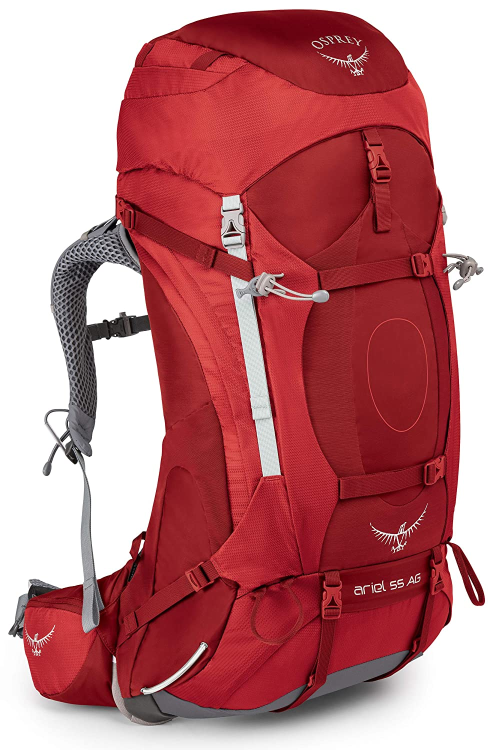 Osprey Packs Women s Ariel AG 55 Backpack, Picante Red, Medium