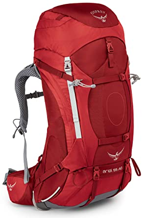 Osprey Packs Women's Ariel Ag 55 Backpack, Picante Red, Medium by Osprey