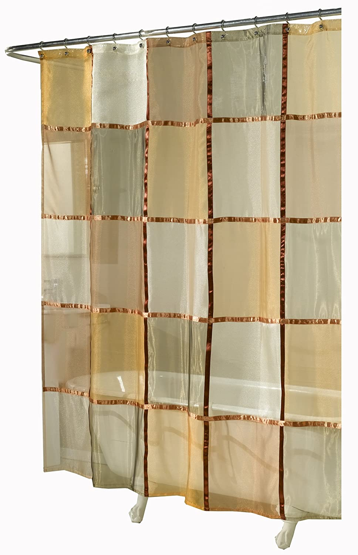 Amazon.com: Ex-Cell Home Fashions Mosaic Fabric Shower Curtain ...