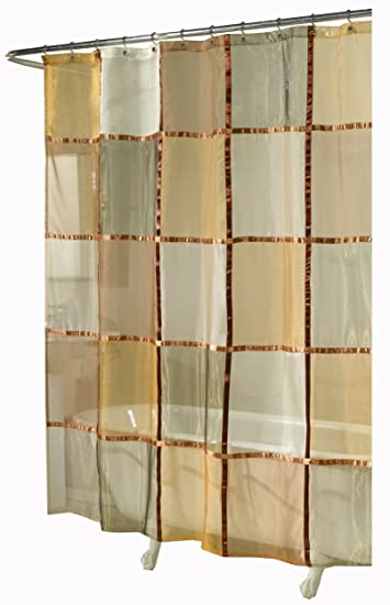 Amazon Ex Cell Home Fashions Mosaic Fabric Shower Curtain Terracotta Kitchen