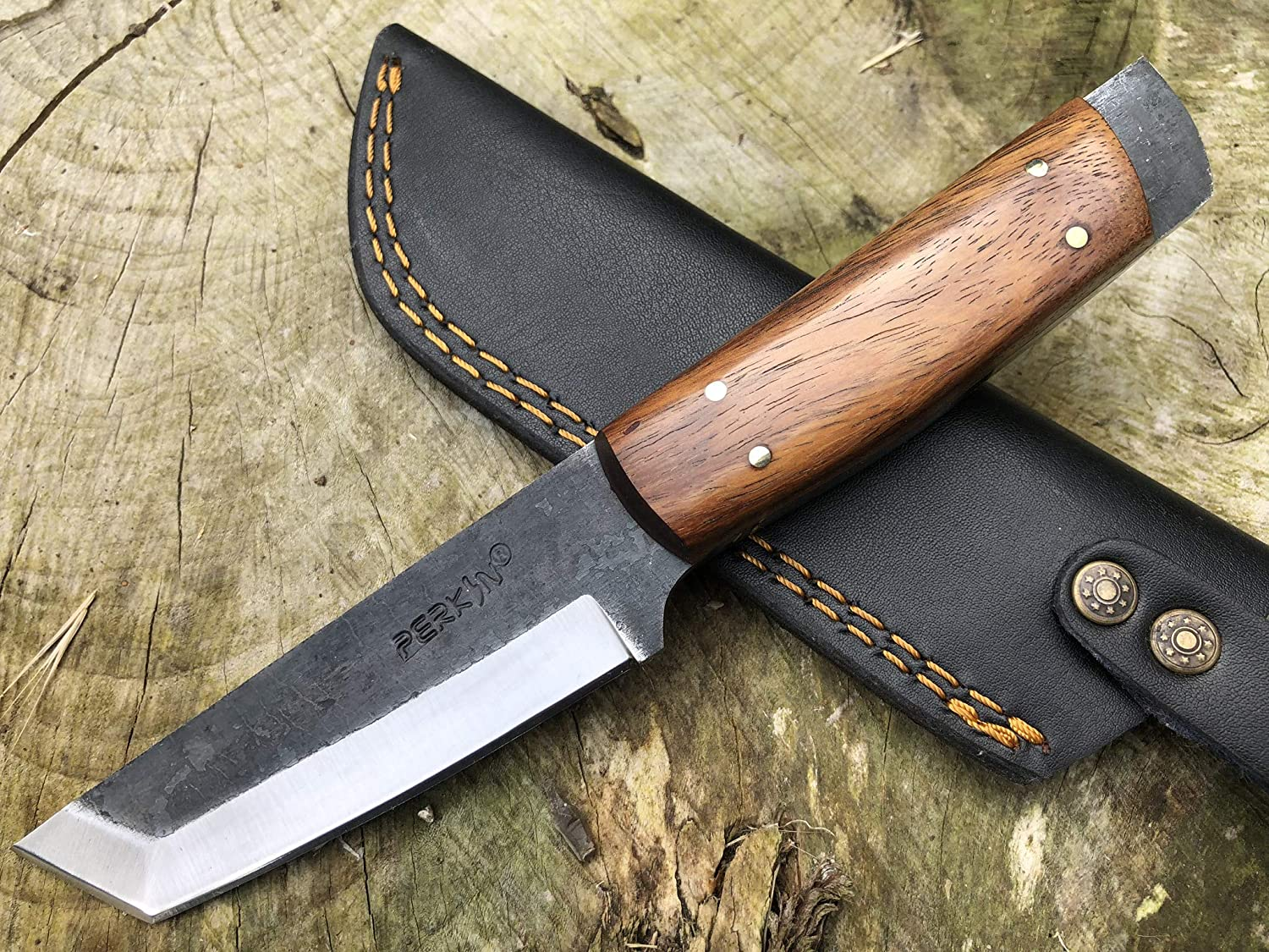 Perkin PK800 Hunting Knife with Sheath Fixed Blade Knife