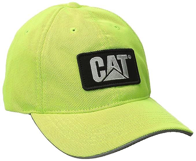 Caterpillar para hombre gorra de malla reflectante - Amarillo -   Amazon.es   Ropa y accesorios 98add4d4c85