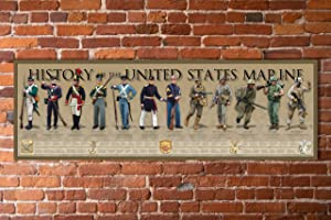 History of The United States Marine Print - 11 3/4