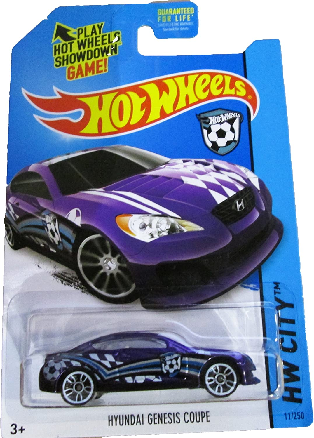 Hot Wheels, 2014 HW City, Hyundai Genesis Coupe [Purple] Die-Cast Vehicle #11/250