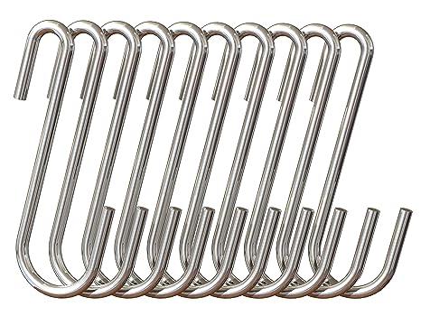 Amazon.com: Ganchos de acero inoxidable en forma de S ...