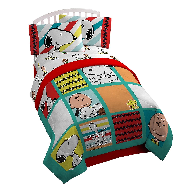 KIDS GIRLS BOYS PEANUTS CHARLIE SNOOPY BEDDING BED IN A BAG COMFORTER SET