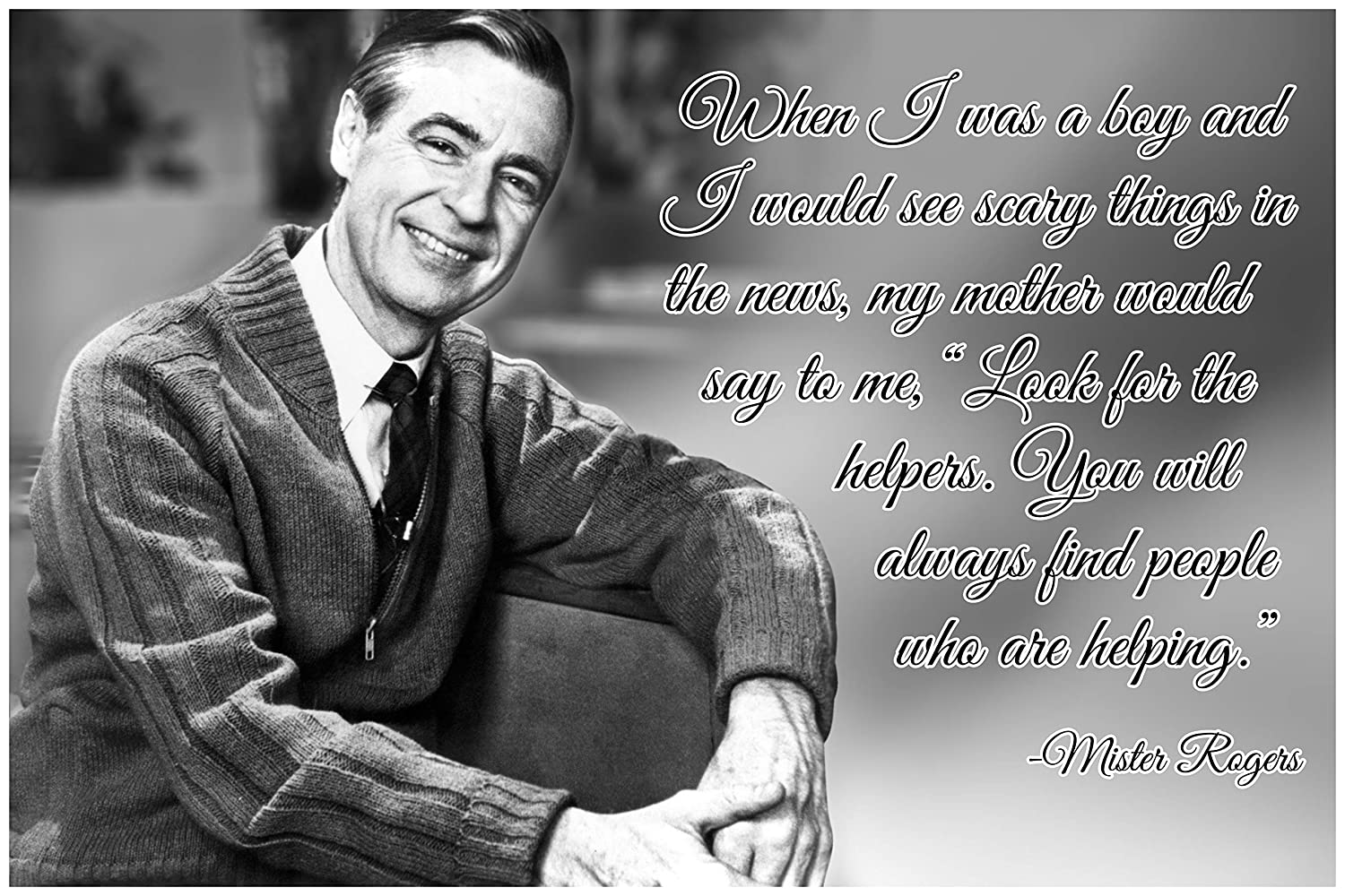 Amazon Com Mr Rogers Neighborhood Quote Poster Growth Mindset Decor Teaching Kids Kindness P018 Industrial Scientific