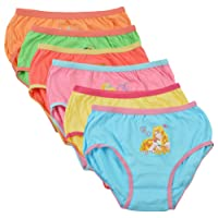 BODYCARE Pure Cotton Multi-Coloured Barbie Panties for Girls & Kids (922-Packof6)