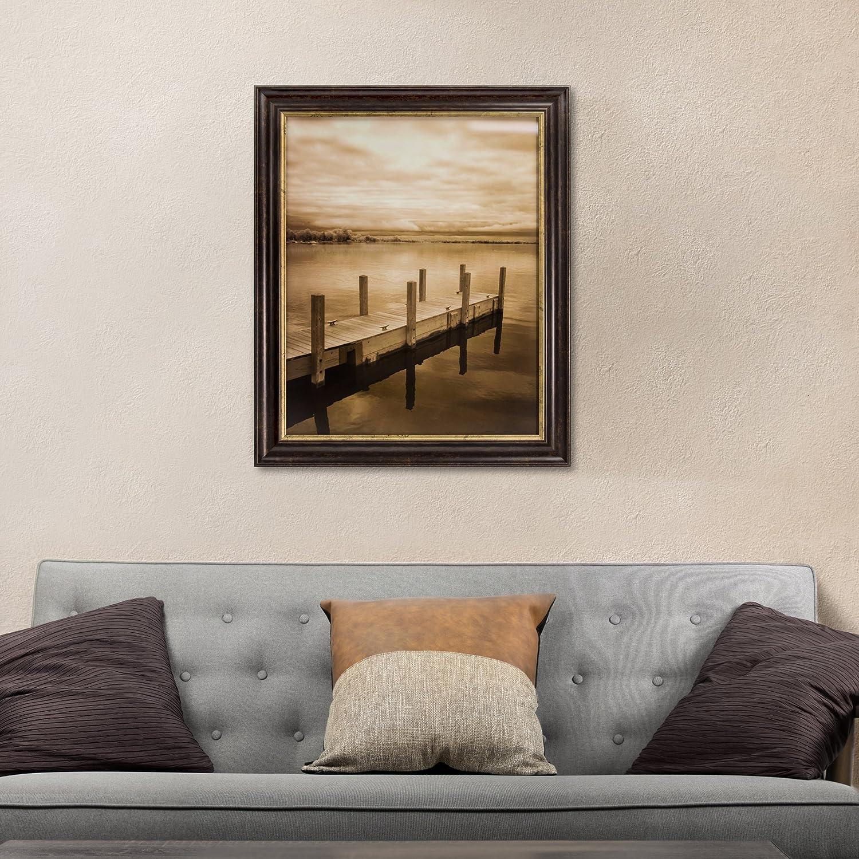 "Crystal ArtNorth Sky 1 by Monte Nagler Framed Canvas Print Wall Decor 23.25/"" H x 19.25/"" L x 1/"" D Brown"
