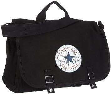 0f4494e6b1e2 Converse Messenger Bag 98306A-30 Black 15.96 liters  Amazon.co.uk  Luggage