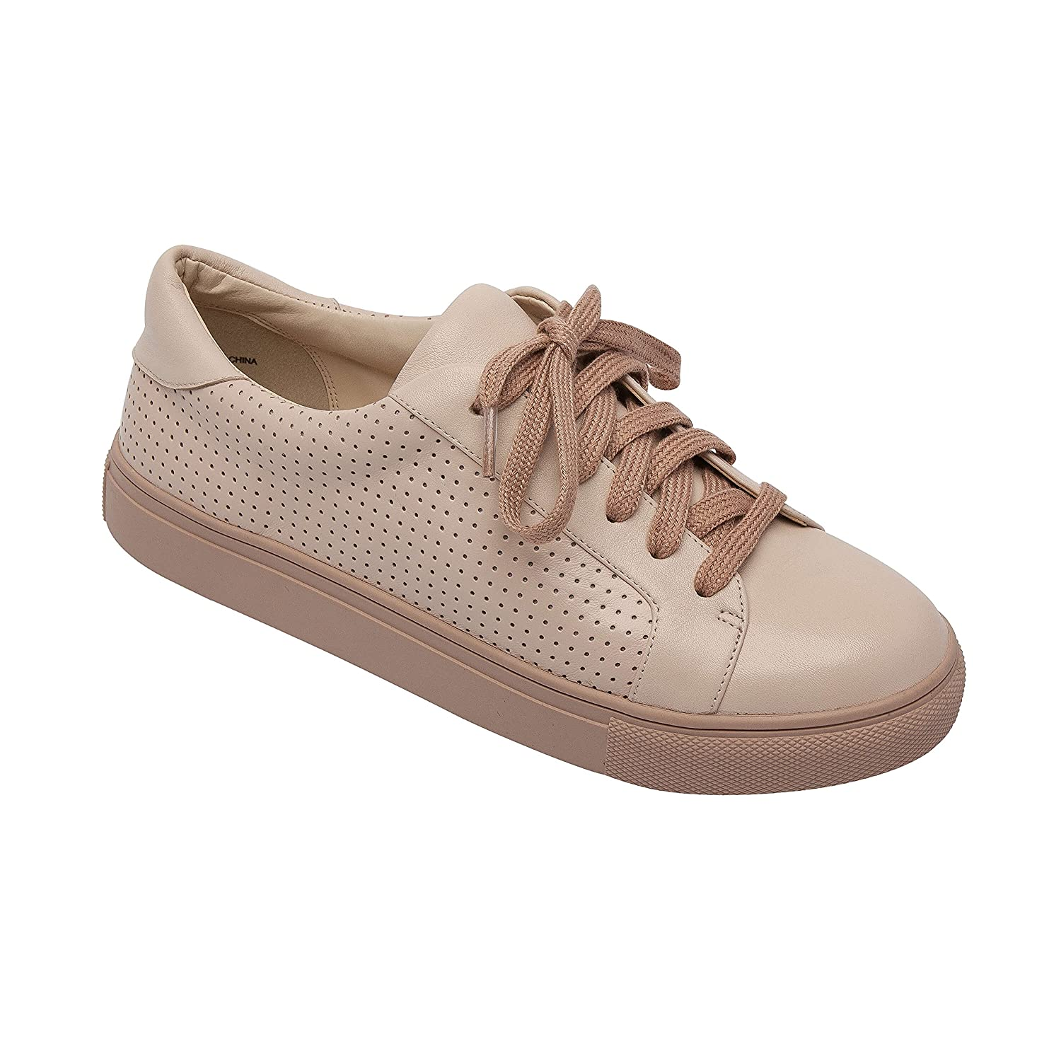 OLLYN | Women's Lace-up Perforated Leather Or Suede Comfortable Fashion Sneaker B07B6FLN5B 6.5 B(M) US|Blush Leather