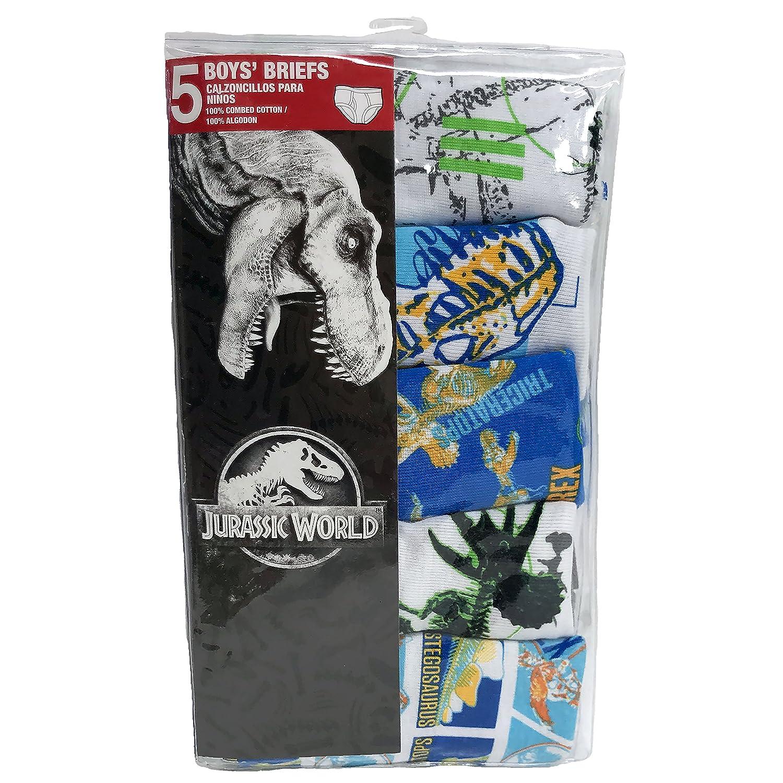 Universal Mens Big Boys Jurassic World 5-Pack Underwear Briefs