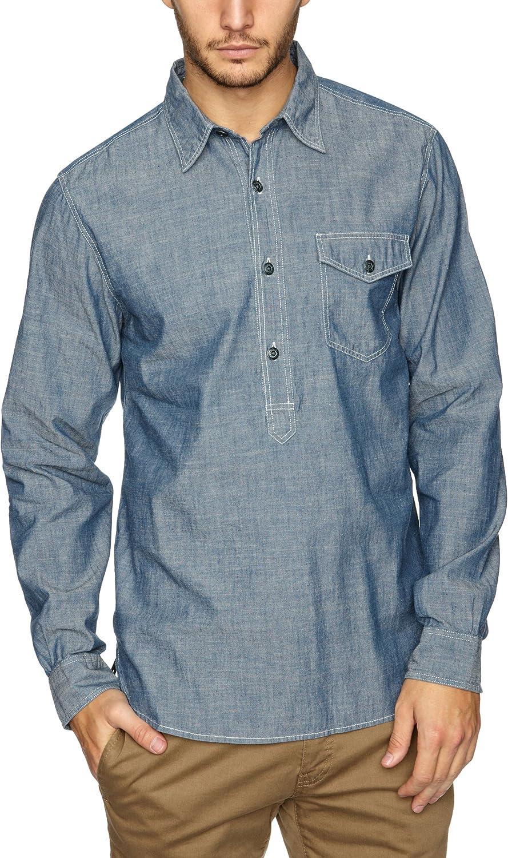 dockers - Camisa de Manga Larga para Hombre, Color Medium Indigo, Talla m: Amazon.es: Ropa y accesorios