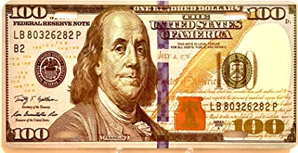 USA, American dollar,$, USD, $100, License Plate , standard 6x12in American  size auto plate, Home decor or can be used on any auto, 100 dollar bill ,
