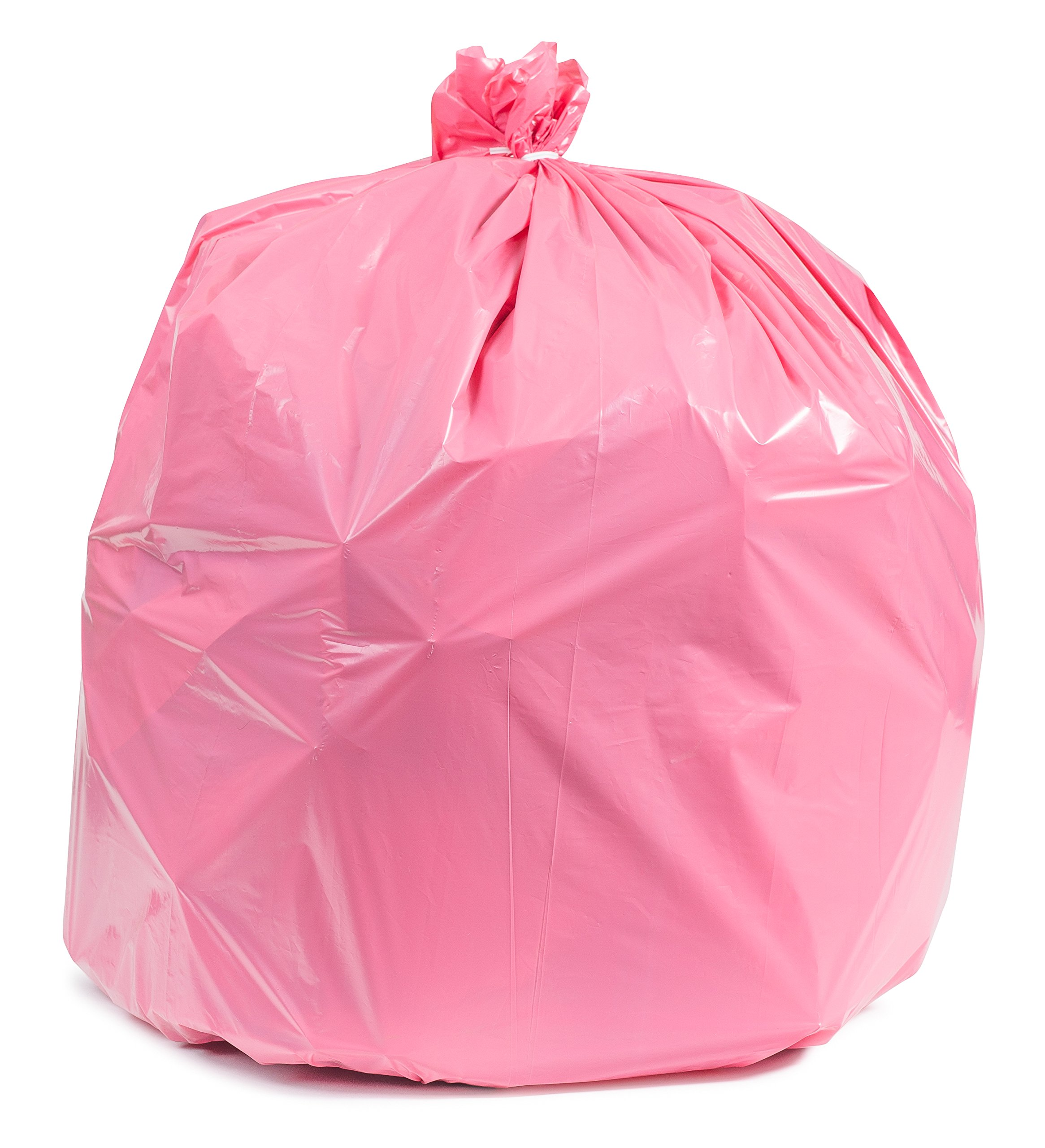31-33 Gallon Trash Bags - 100/ case - Pink by Plasticplace