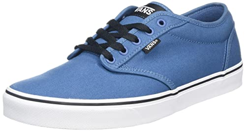 d3d340c3d32f95 Vans Men s Atwood (Canvas) Blue Ashes and White Sneakers - 8 UK India
