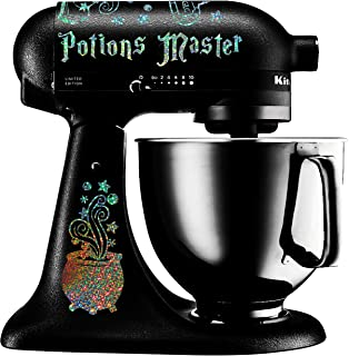 Potions Master Wizard Cauldron Black Vinyl Decal Set For Stand Mixer Mixer Not Included