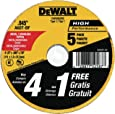 DEWALT Cutting Wheel, General Purpose Metal Cutting, 4-1/2-Inch, 5-Pack (DW8062B5)