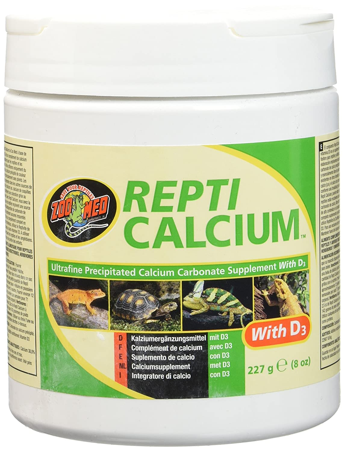 Zoo Med Reptile Calcium with Vitamin D3, 8-Ounce A348