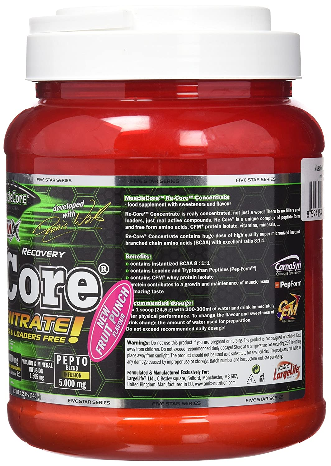 Musclecore Re-Core® Concetrated 540 gr Ponche de Frutas: Amazon.es: Salud y cuidado personal
