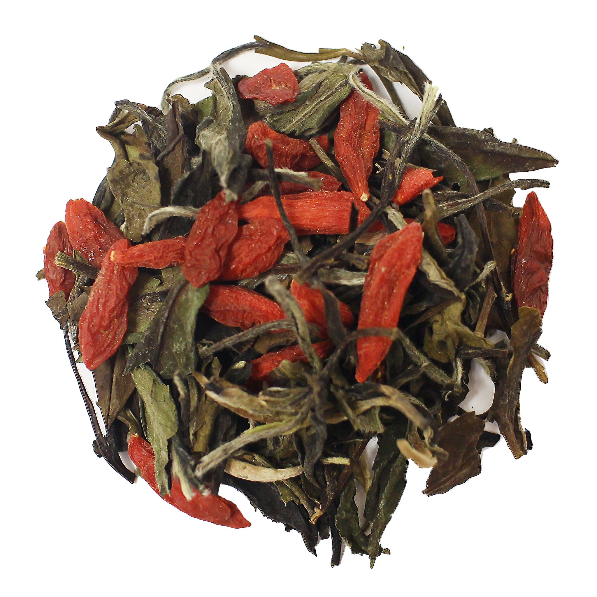 The Tea Farm - Goji White Tea - Loose Leaf White Tea (1 Pound Bag)