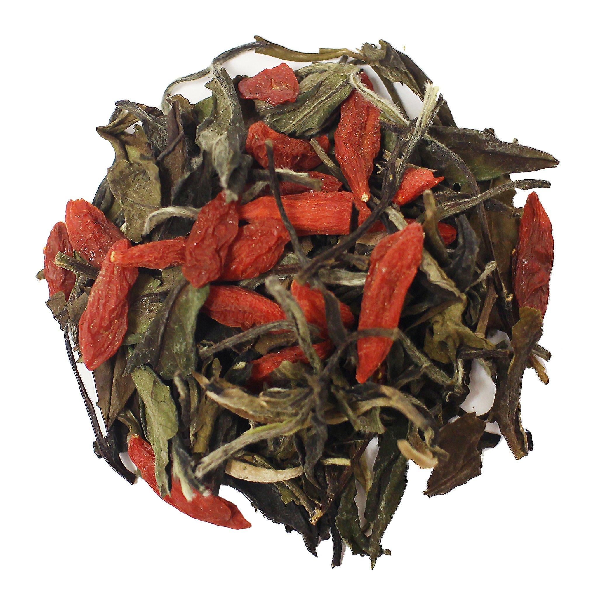 The Tea Farm - Goji White Tea - Loose Leaf White Tea (8 Ounce Bag) by The Tea Farm