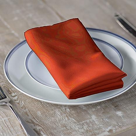 Pack-10 LA Linen Polyester Poplin Napkins 18-Inch by 18-Inch