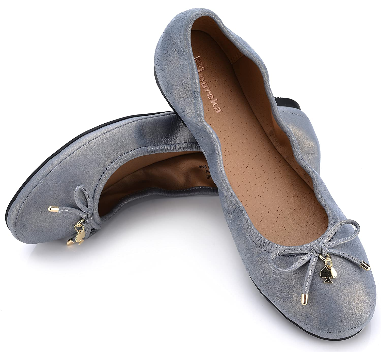 Eureka USA Women's Universe Leather Ballet Flat B074V461H4 7 B(M) US|517 Antique Pewter