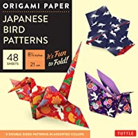 Origami Paper: Japanese Bird Patterns - 21cm: Perfect for Small Projects or the Beginning Folder