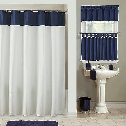 Amazon.com: Furniture Fresh: Newport Waffle Weave Shower Curtain ...