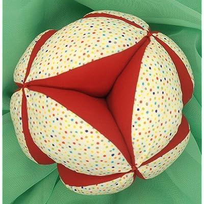 Pelota Montessori - Confeti Multicolor/Rojo