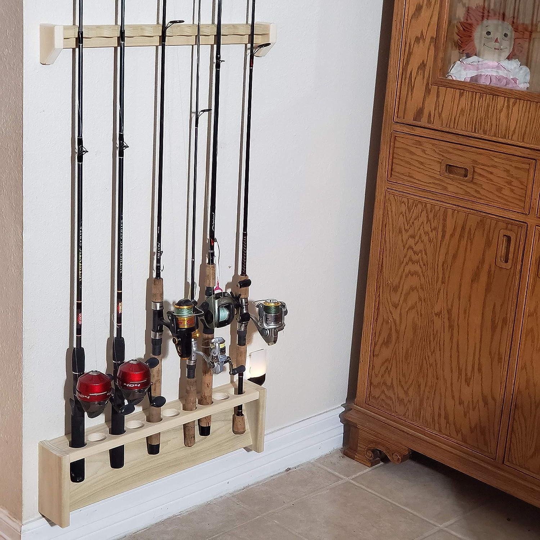 Amazon Com Rod Rack Wall Mount Fishing Pole Holder Handmade