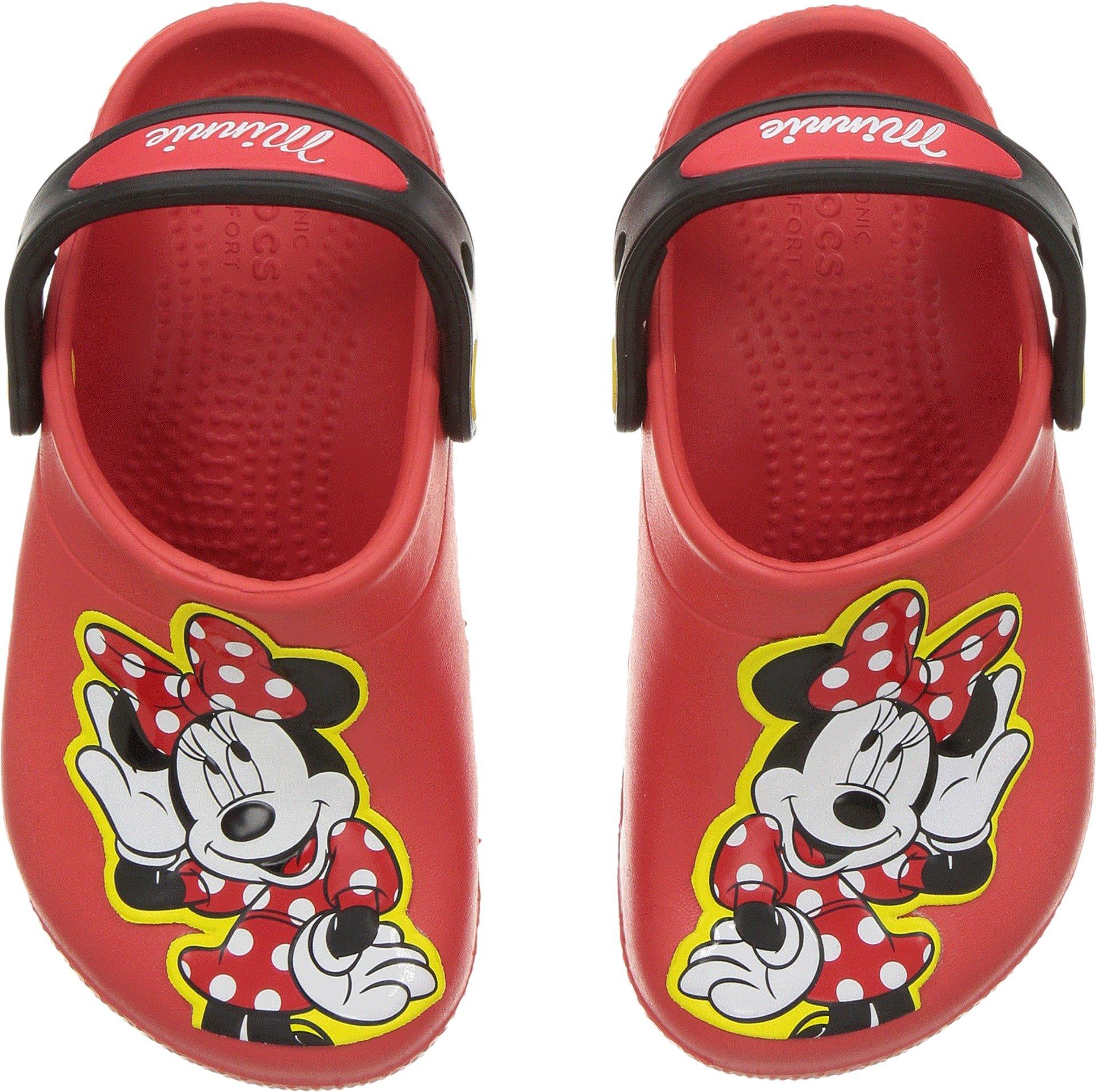 Crocs Girls' Fun Lab Minnie Clog, Flame, 8 M US Toddler
