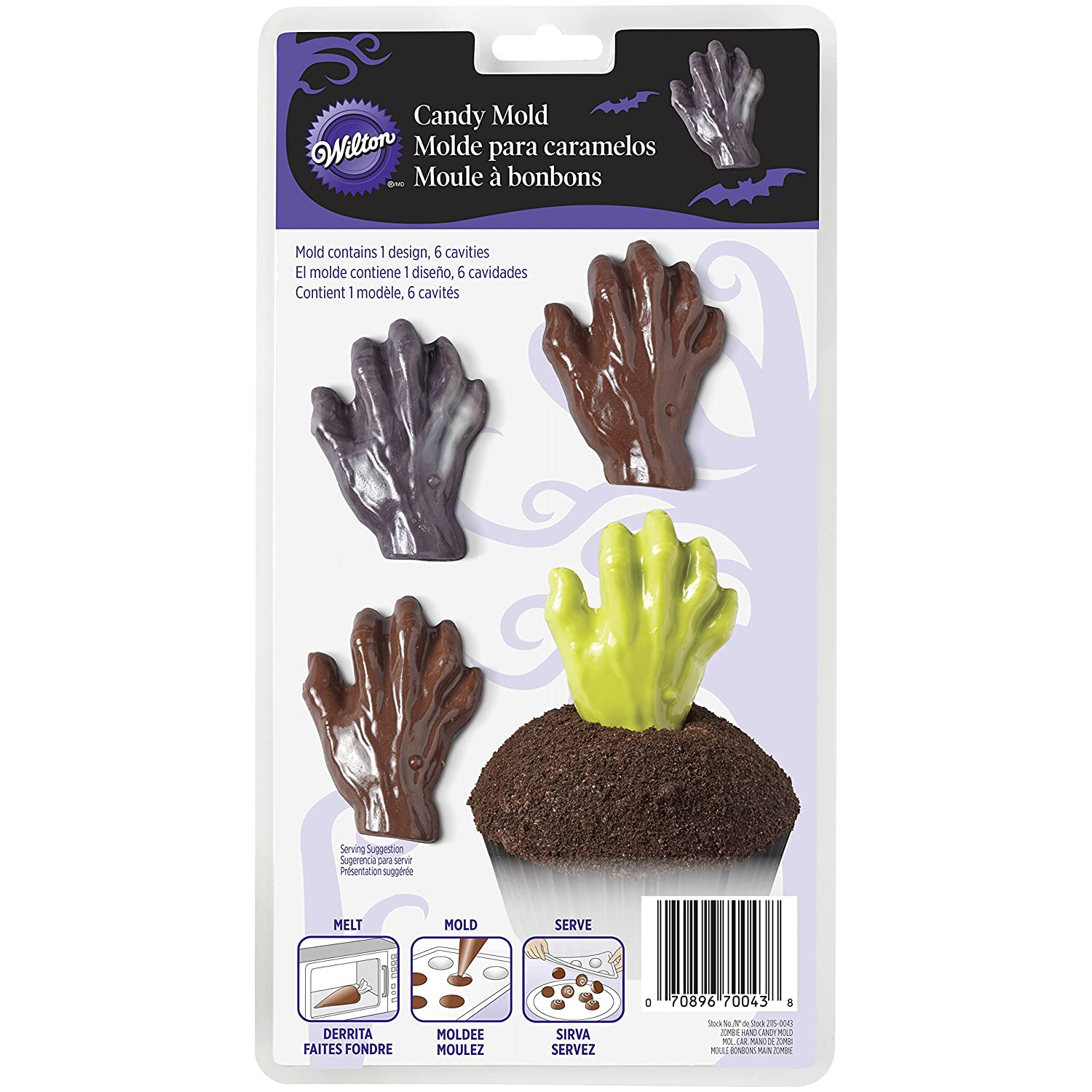 Amazon.com: Wilton 2115-0043 Zombie Hand Candy Mold: Kitchen & Dining