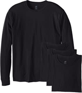 f0f60d575ec2b6 Hanes Men's Long Sleeve Cool Dri T-Shirt UPF 50+ (Pack of 2) at ...