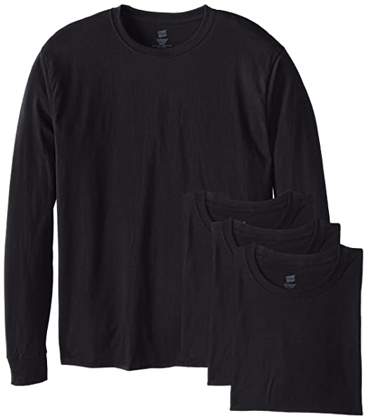 Hanes Men s Long-Sleeve ComfortSoft T-Shirt (Pack of 4)  841da252e46