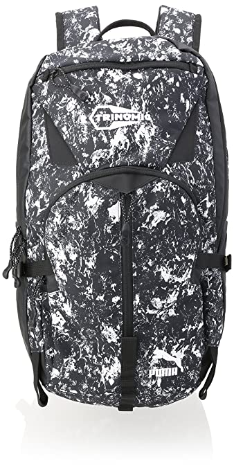 Puma Polyester 24 Ltrs Black and Graphic Laptop Bag (7324408)