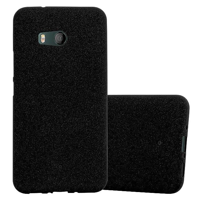 4 opinioni per Cadorabo Custodia per HTC Ocean / U11 in Frost Nero – Morbida Cover Protettiva