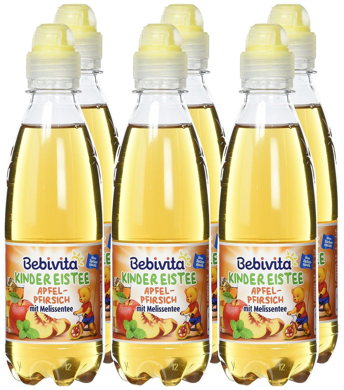 Bebivita Kinder-Getränke Eistee Apfel, Pfirsich, Melissen Tee, 6er ...